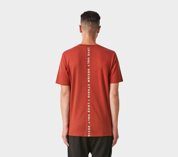 Back Logo Tee - Brick Red
