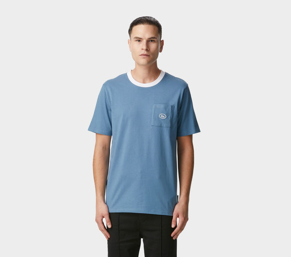 Donnie Pocket Tee - Smoky Blue