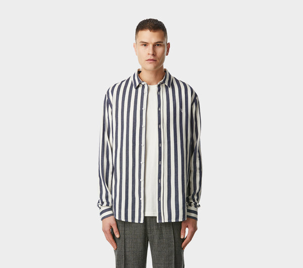 Bold Stripe Artisan Shirt - Navy/White