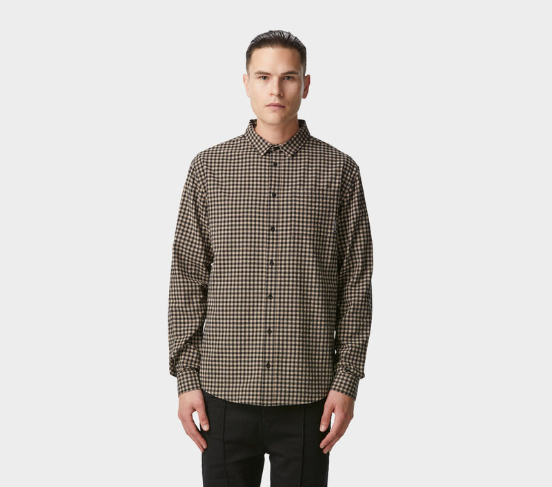 Essential Check Shirt - Black/Oatmeal