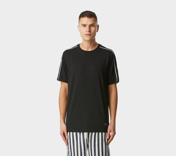Double Piped Tee - Black
