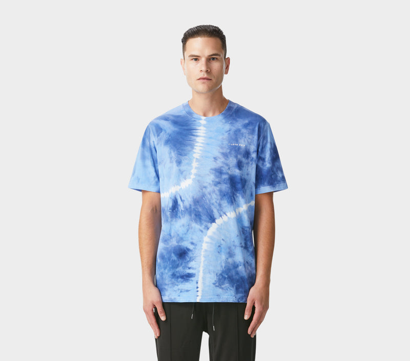 Relaxed Tie Dye Tee - Ice Blue
