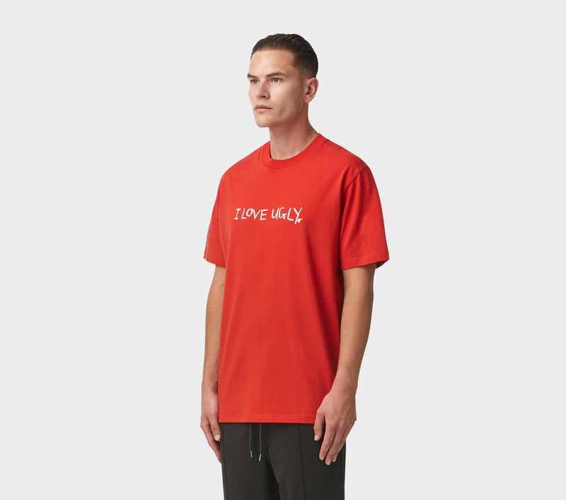 Hand-written Relaxed Tee - Red