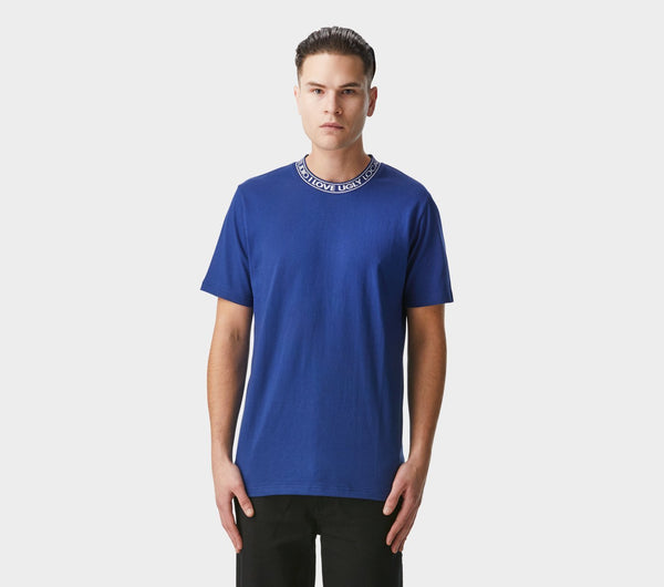Neck Logo Tee - Russian Blue
