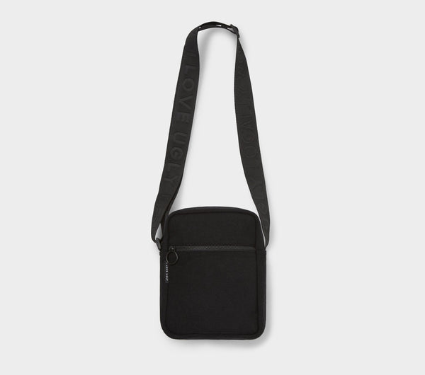 Wallace Messenger Bag  - Black Wool