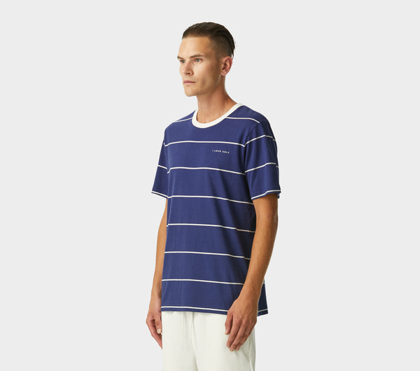Skinny Stripe Tee - French Navy