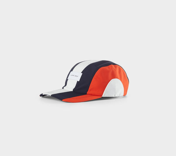 Multi Panel Cap - Navy/Orange