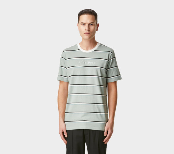Stripe Logo Tee - Iceberg Green/Black