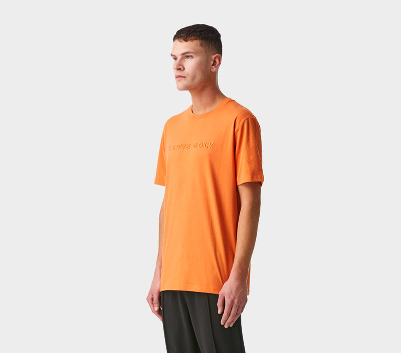 Embroidery Logo Tee - Orange
