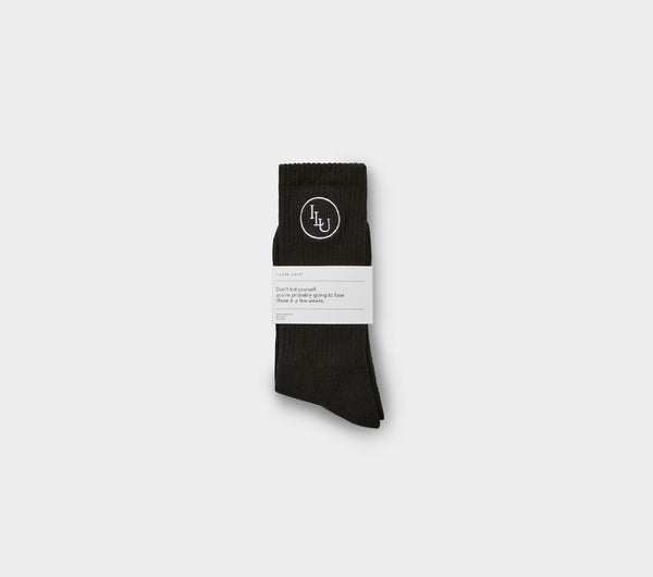 Monogram Sock - Black