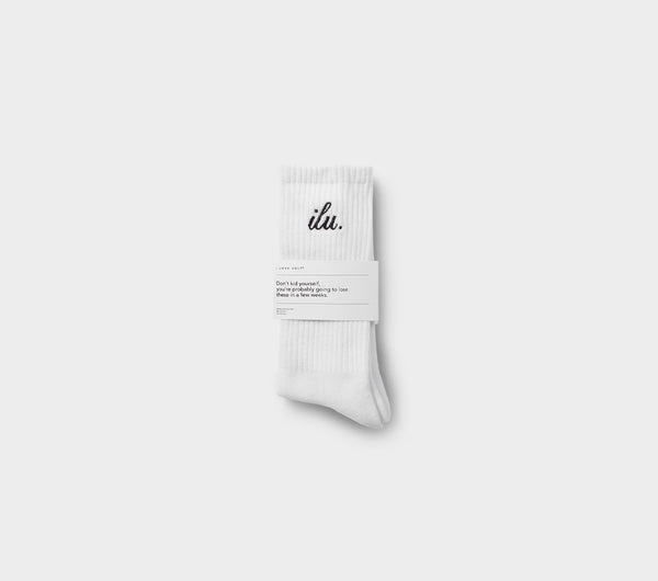 Shorthand Sock - White