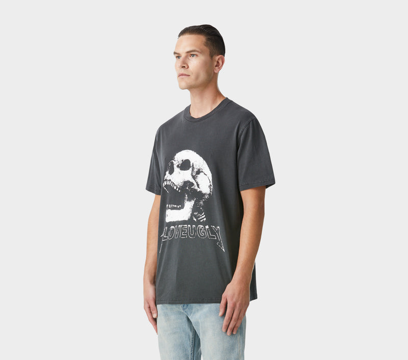 Relaxed Skull Tee - Washed Black