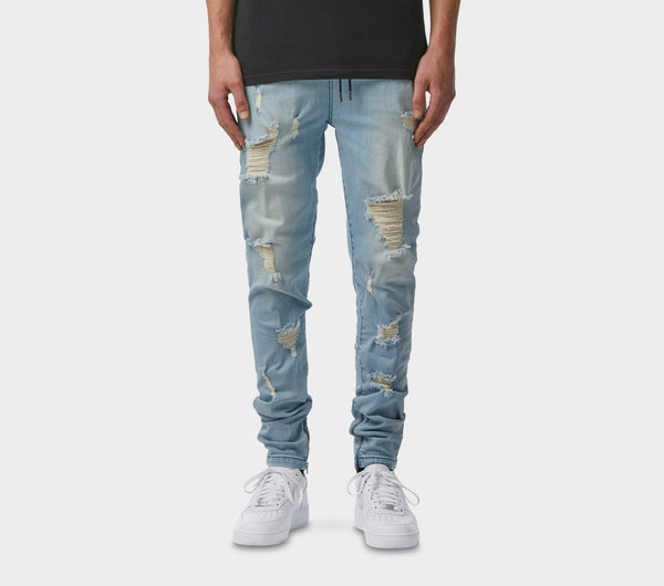 Zespy Pant Mid Rise - Heavy Distressed
