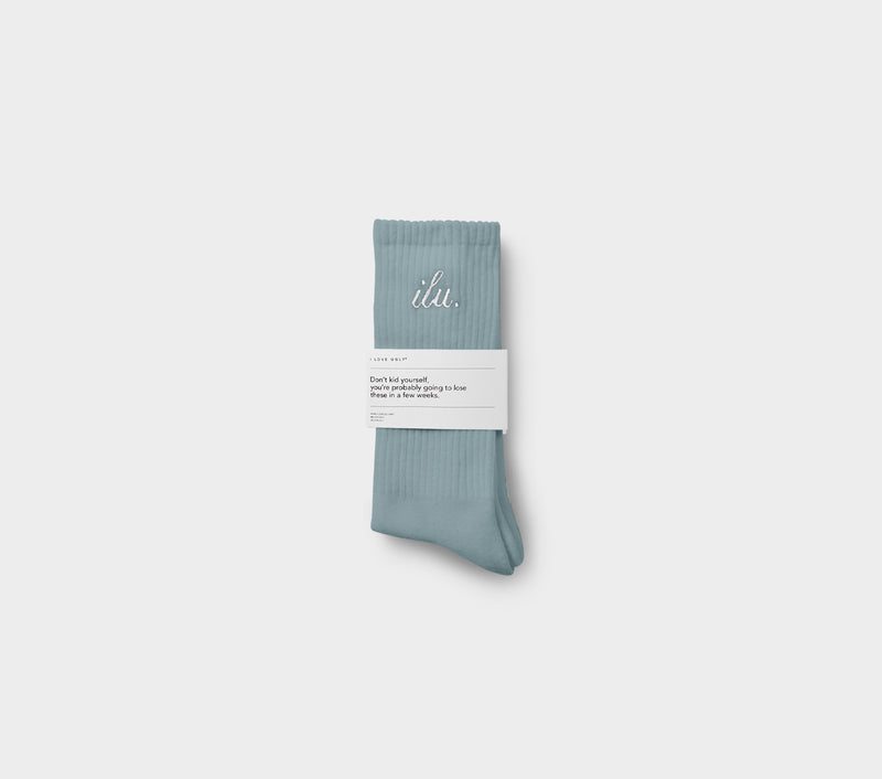 Shorthand Sock - Smokey Blue