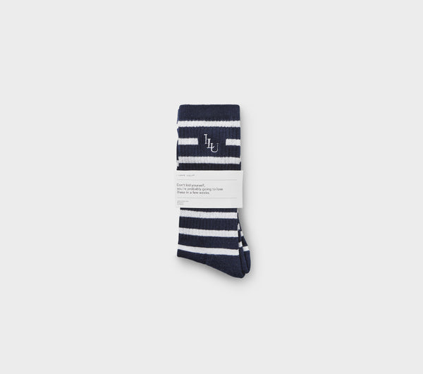 Stripe Sock - Midnight