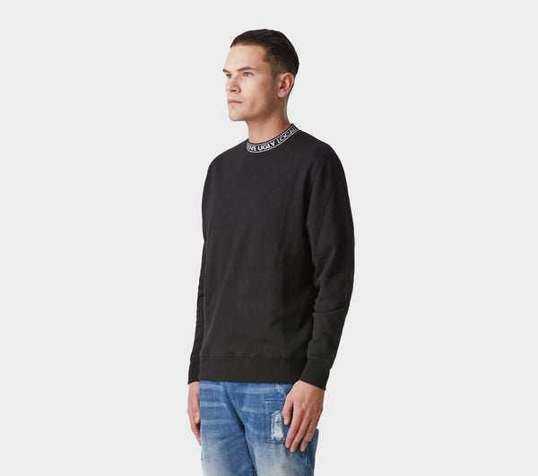 Neck Logo Casper Crew - Black
