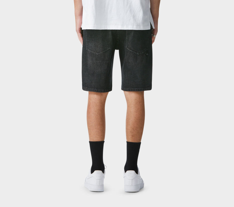 Tony Denim Short - Washed Black