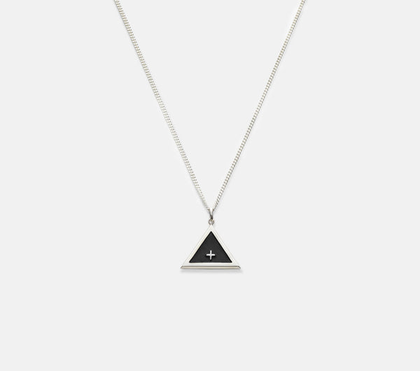 Triangle Necklace - Sterling Silver