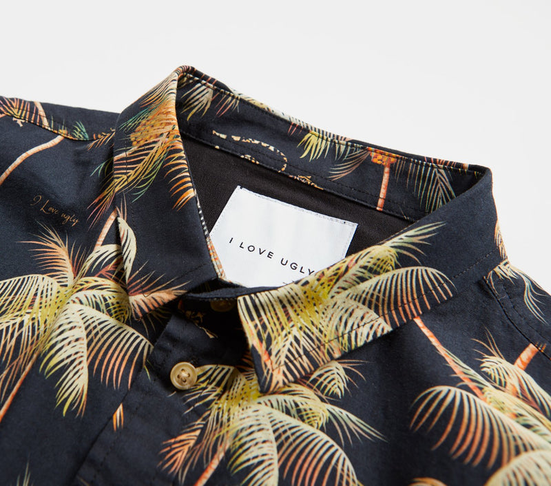 Jonty Short Sleeve Shirt - Black Paradise