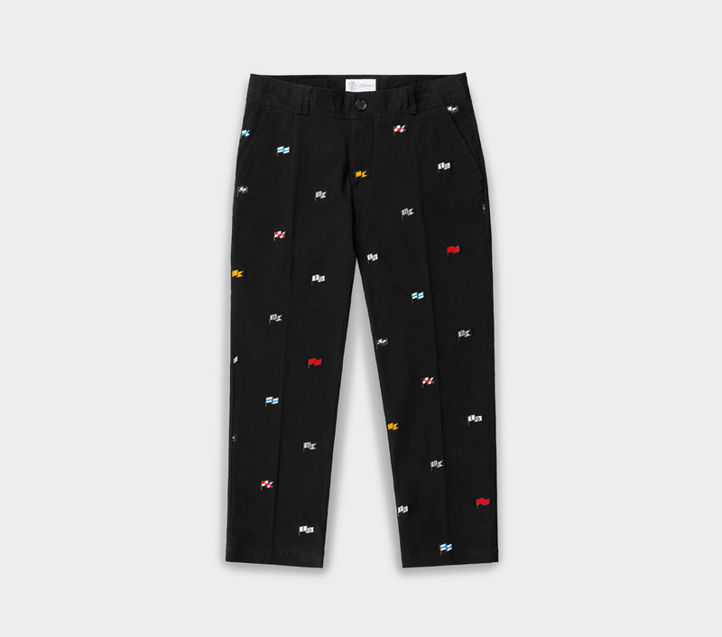 Flag Slim Kobe Pant - Black