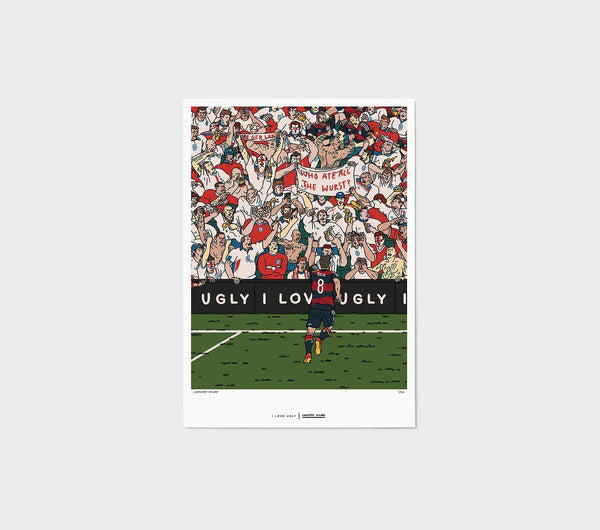 ILU x Chester Holme - Crowd Print