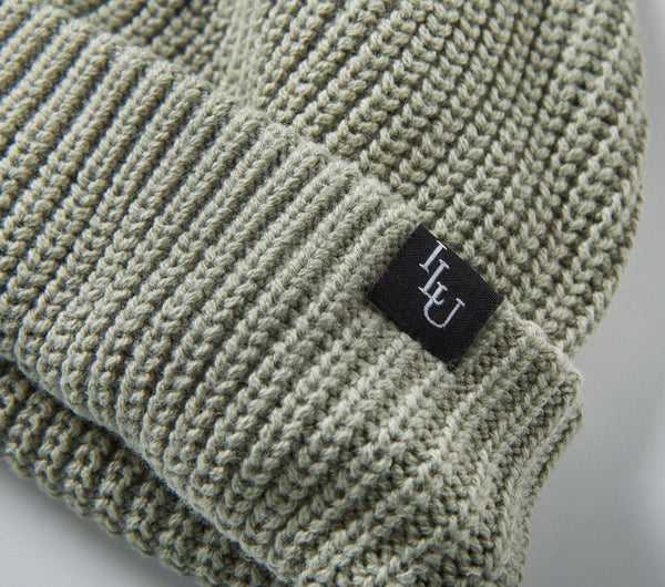 Fisherman Beanie - Moss Green