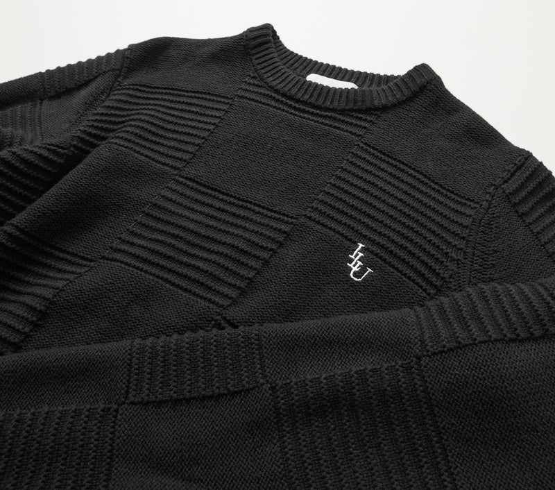 Alza Square Sweater - Black