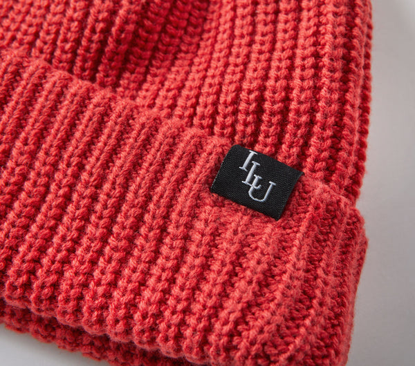 Fisherman Beanie - Blood Red