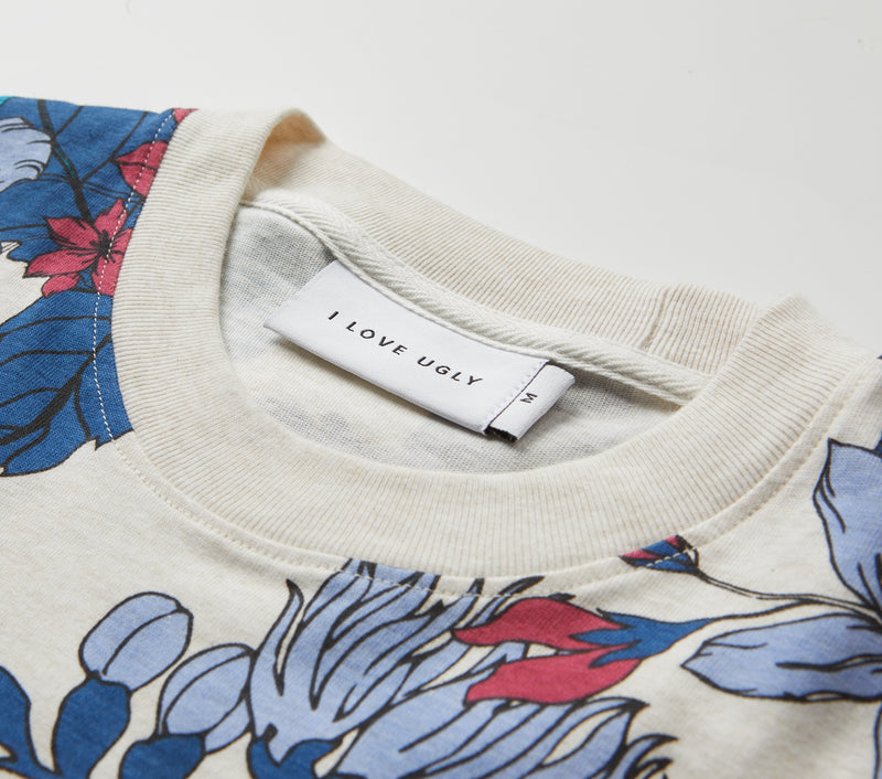 Bluebells Relaxed Tee - Oatmeal