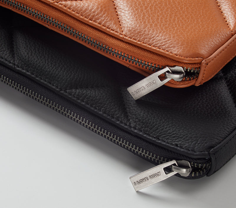 Leather Laptop Case - Black Leather
