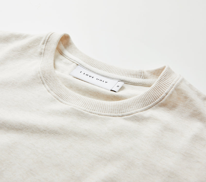 Hand-written Relaxed Tee - Oatmeal