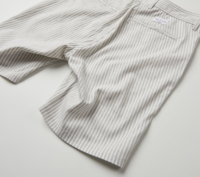 Nautical Stripe Jonty Short - Grey/White