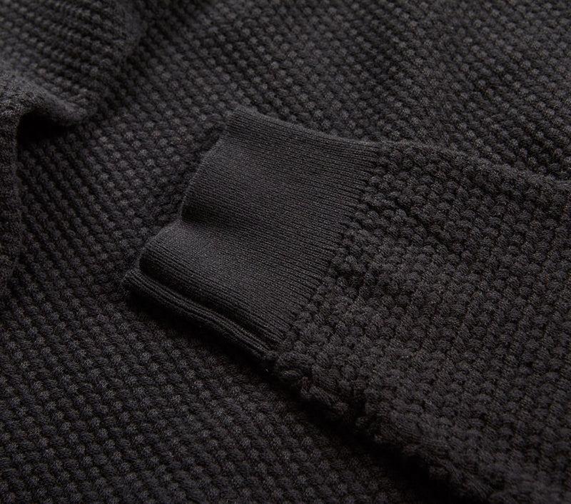 Bobble Knit Crew - Black