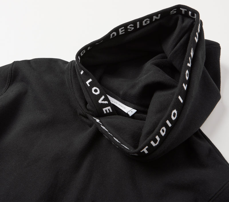 Ribbed Harley Hood - Black