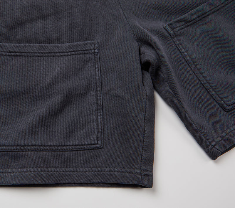 Pocket Trackie Short - Washed Black