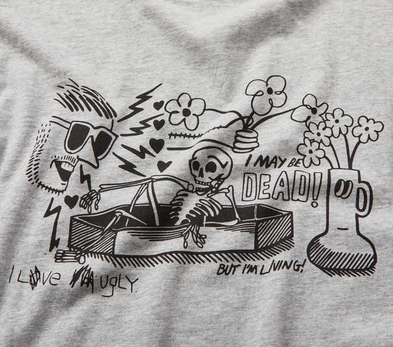 Living or Dead Tee - Vintage Grey