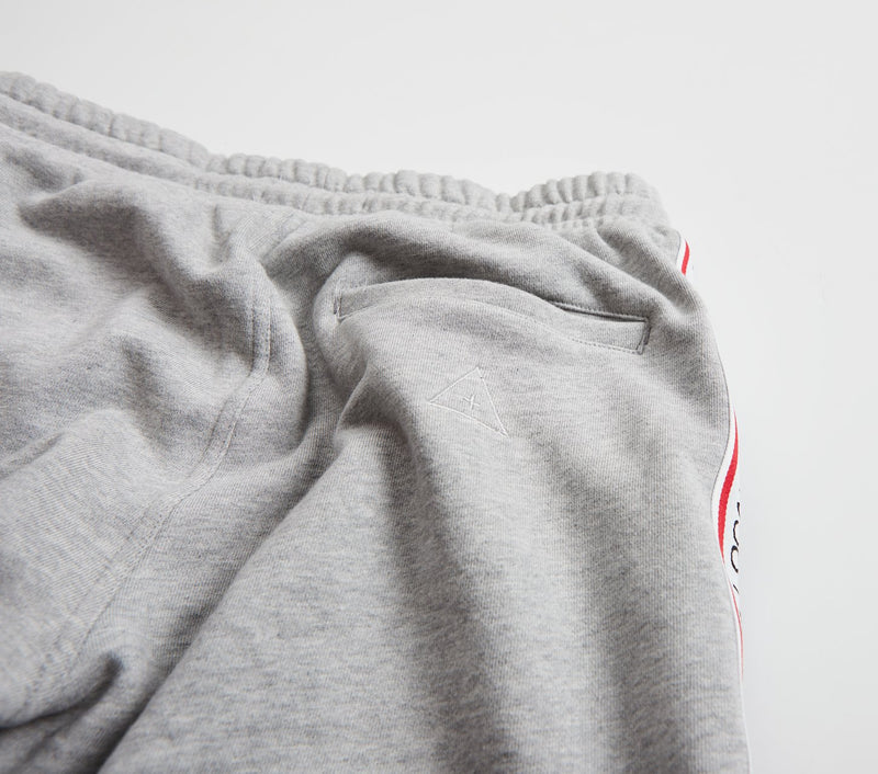 Stripe Taped Trackie Short - Vintage Grey