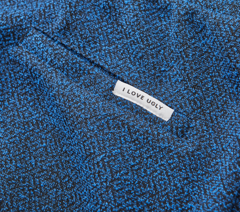 Textured Trackie Short - Blue Speckle