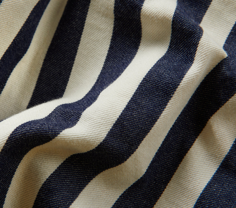 Bold Stripe Frankie Short - Navy/White