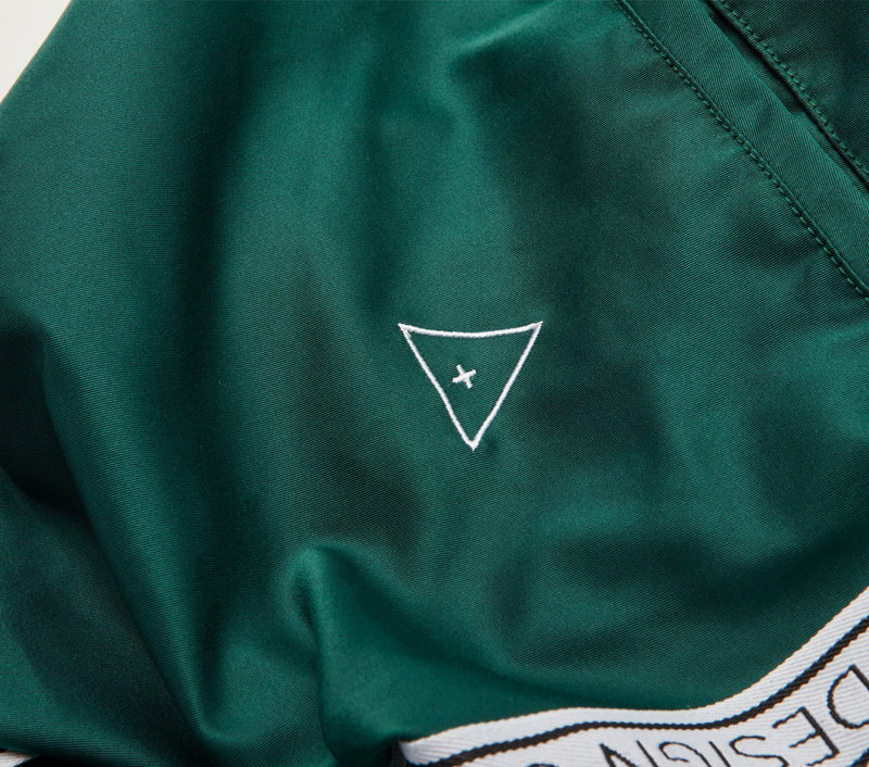 Anton Track Pant - Emerald Taped