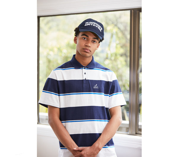 Tony Polo Shirt - Midnight Stripe