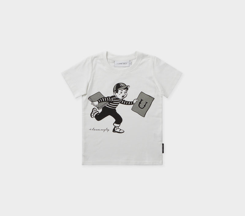 Kids Book Boy Tee - Winter White