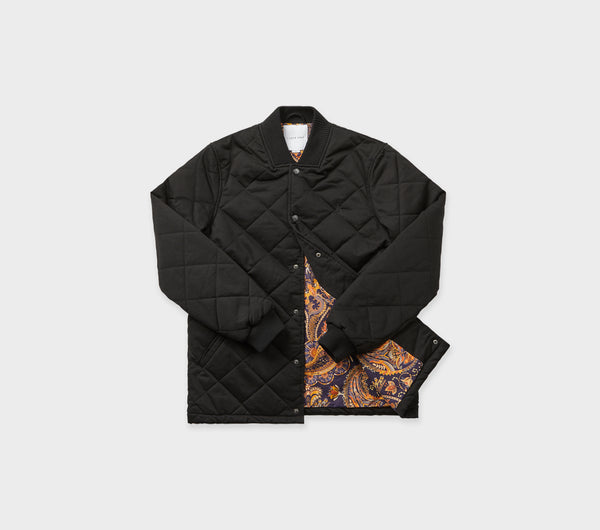 Davey Bomber Jacket - Black