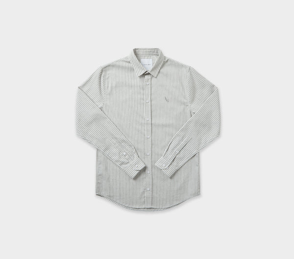 Nautical Stripe Miro Shirt - Grey/White