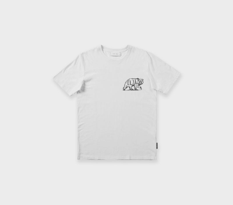 Bear Logo Tee - White