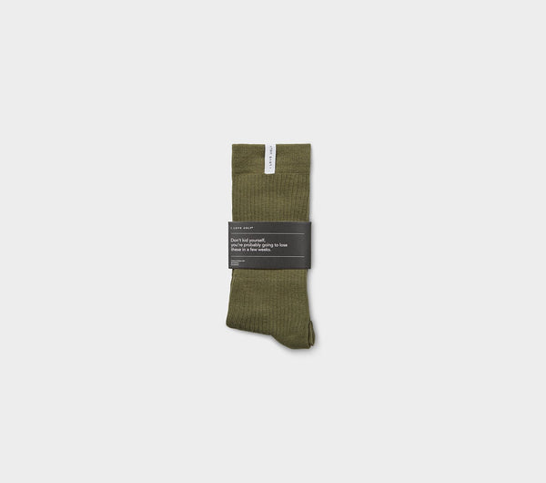 Ribbed Sunday Sock - Dusty Green