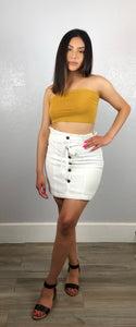 Lucy tube top (Mustard)