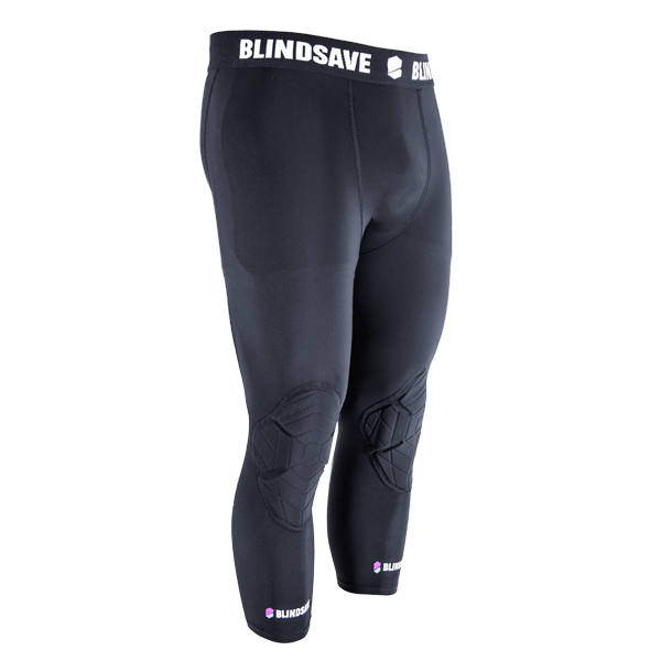 BLINDSAVE Padded basketball 3//4 tights with FULL protection Compression tights for men Protection for KEY body areas