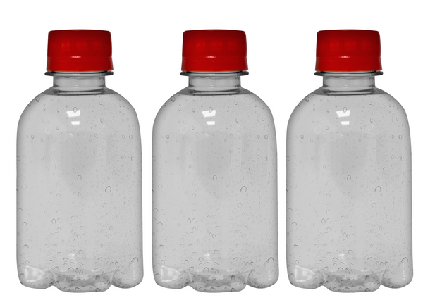 Custom Premium Purified Water 8.4oz (250ml) | 24 Pack Case | Clear Boston Red Cap