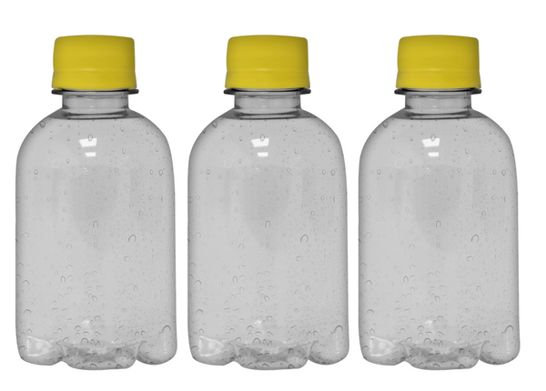 Custom Premium Sparkling Water 8.4oz (250ml) | 24 Pack Case | Clear Boston Yellow Cap
